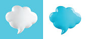 vector glossy cloud bubble