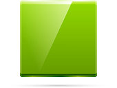 Vector glossy green square