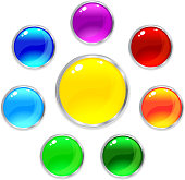 Vector glossy internet button