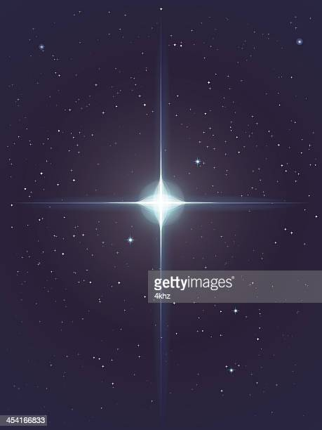 vector glowing star background - north star stock illustrations