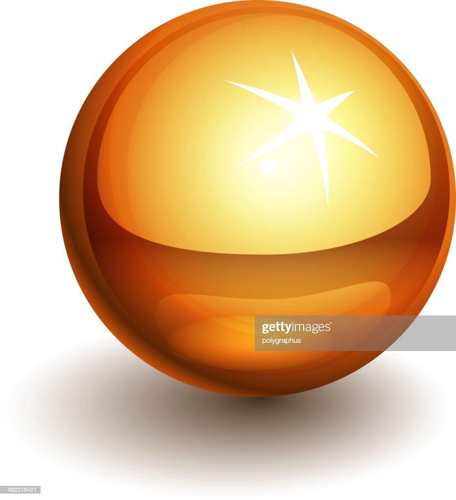 Vector gold ball