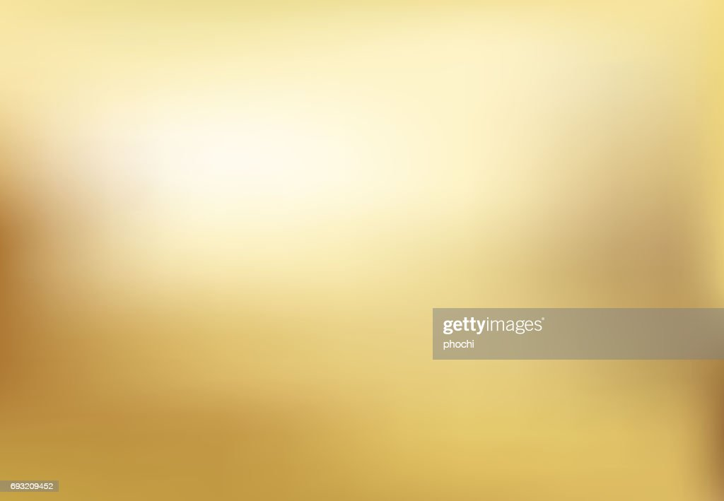 Vector gold blurred gradient style background. Abstract smooth illustration