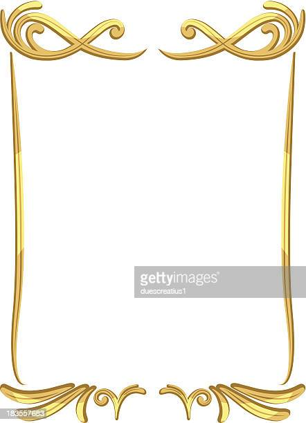 ベクトルビンテージゴールドフレームの装飾 03 - エンベリッシュ点のイラスト素材/クリップアート素材/マンガ素材/アイコン素材