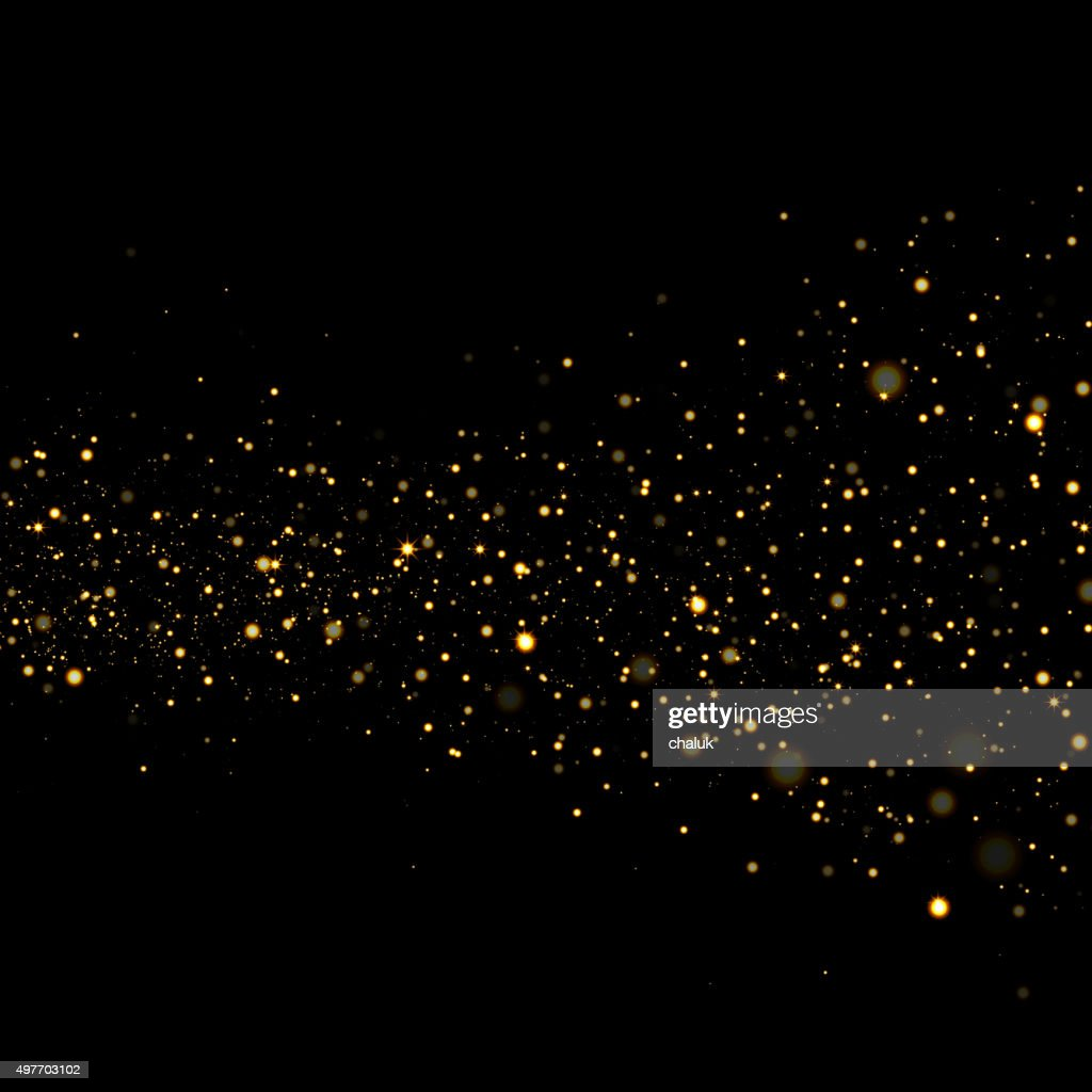 Vector gold glittering sparkle background