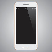 Vector Gold mobile phone template