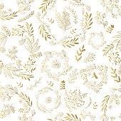 Vector gold seamless pattern