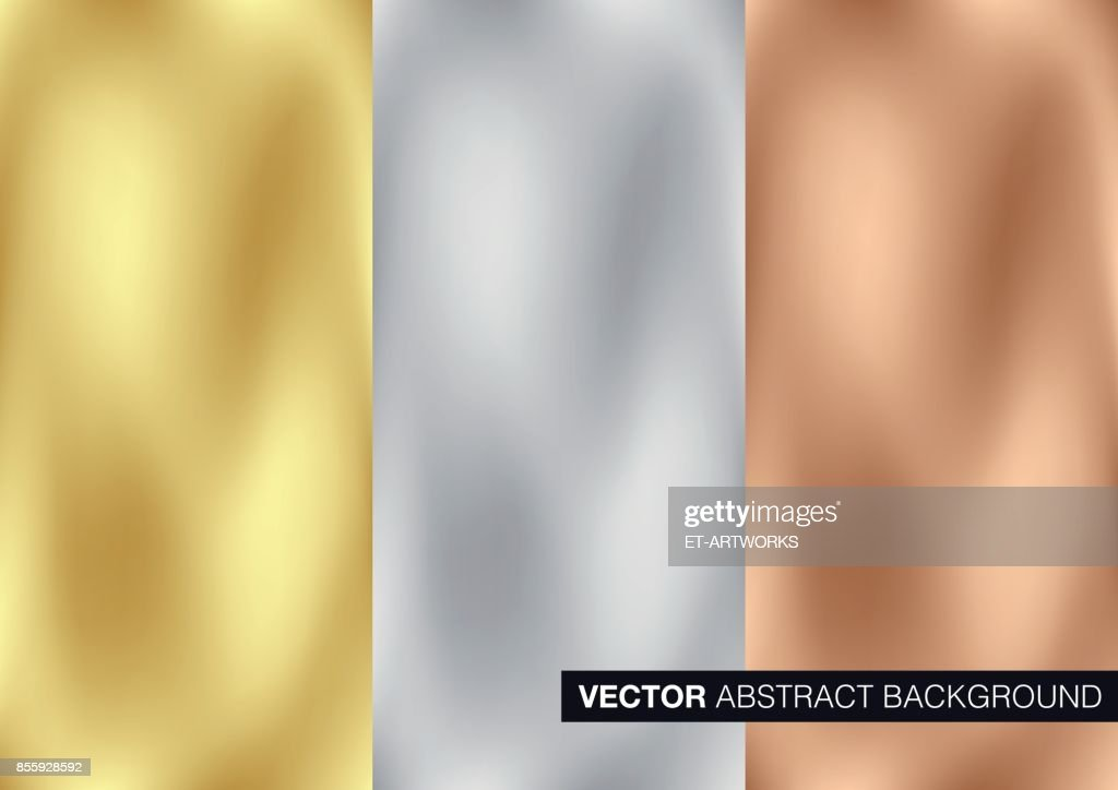 Vector gold, silver and copper metal background