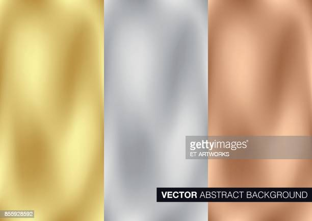 vector gold, silver and copper metal background - metal stock illustrations