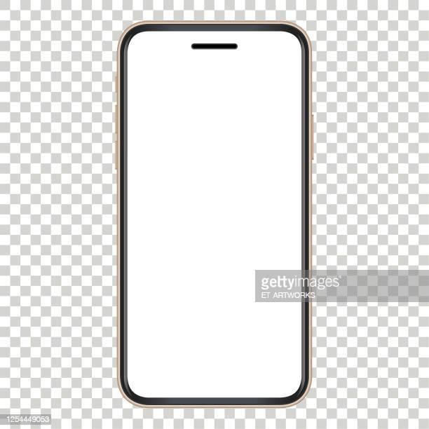 vector gold smartphone template - sneering stock illustrations