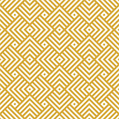Vector golden background. Seamless geometric pattern