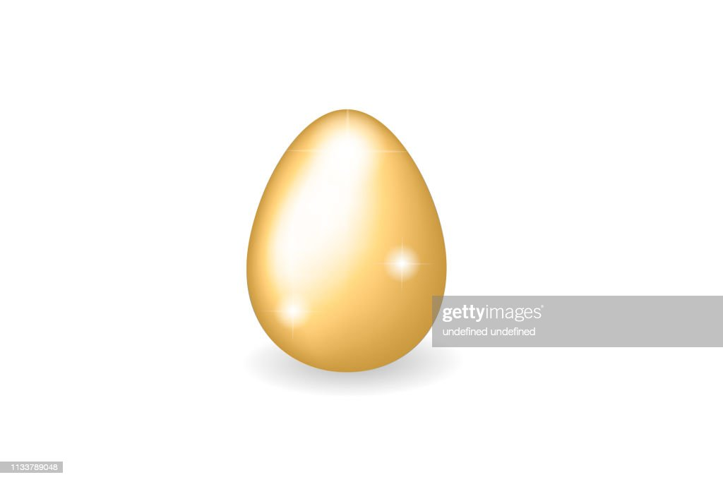 3D vector golden egg with sparkles on transparent background for Easter card, holiday poster, banner, invitation, Easter sales or promo, spring events. Holiday theme with eggs and sparkls, gold object