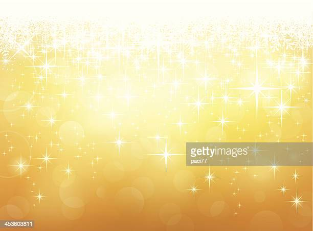 Vector Golden Lights Background