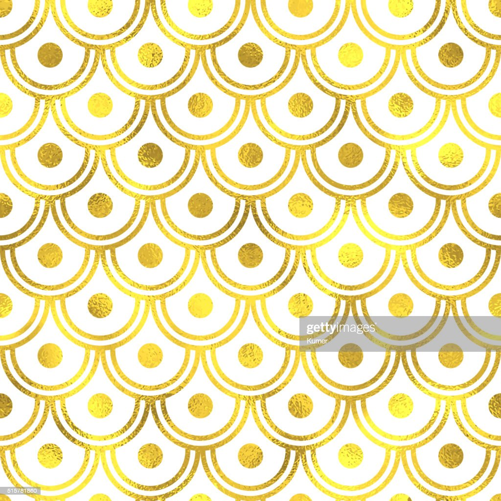Vector golden seamless pattern