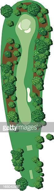 vector golf hole - sand trap stock illustrations, clip art, cartoons, & icons