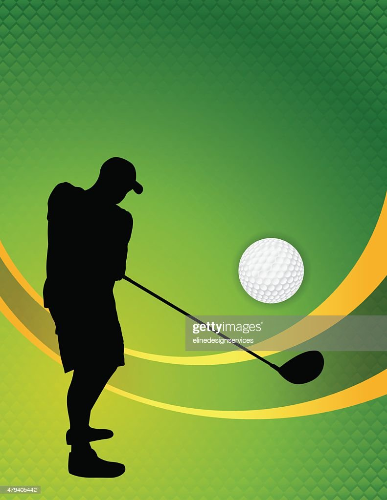 Vector Golf Theme Background Illustration