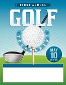 Vector Golf Tournament Illustration