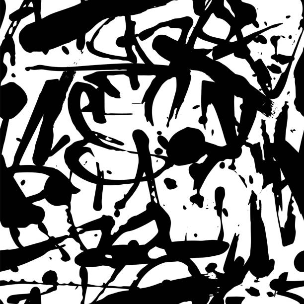 Vector Graffiti Seamless Pattern With Abstract Tags Wall Art