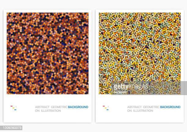 ilustrações de stock, clip art, desenhos animados e ícones de vector grain texturedpattern,abstract backgrounds - grânulo