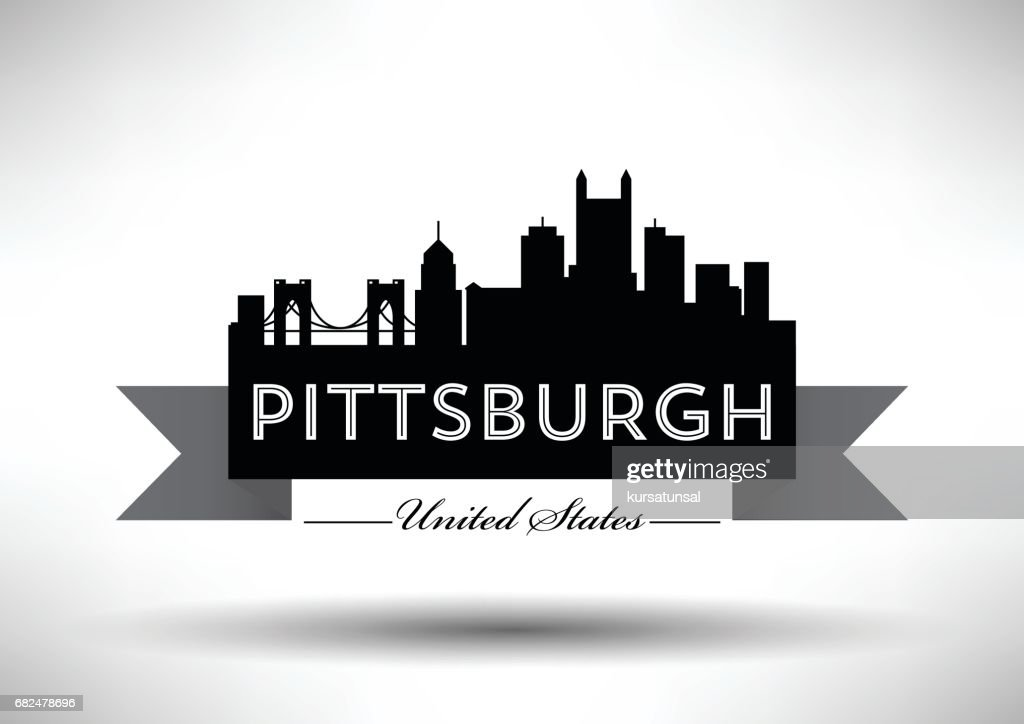 Vector Graphic Design of Pittsburgh City Skyline