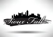 Vector Graphic Design of Sioux Falls City Skyline