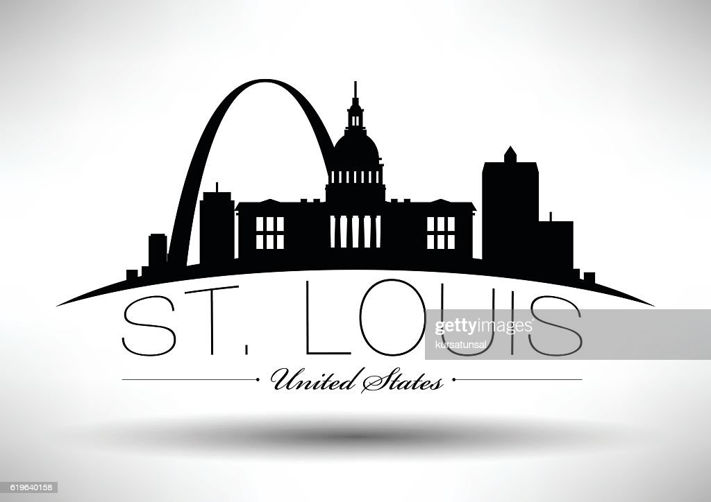 Vector Graphic Design of St. Louis City Skyline