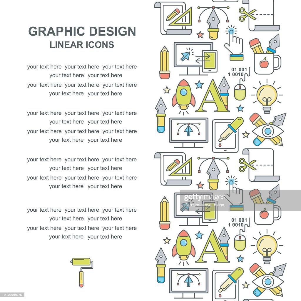 Vector graphic designe colored line style background.