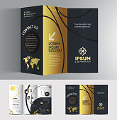 Vector graphic elegant business brochure design for your company