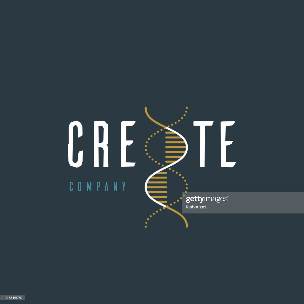 Vector graphic illustration of a DNA symbol