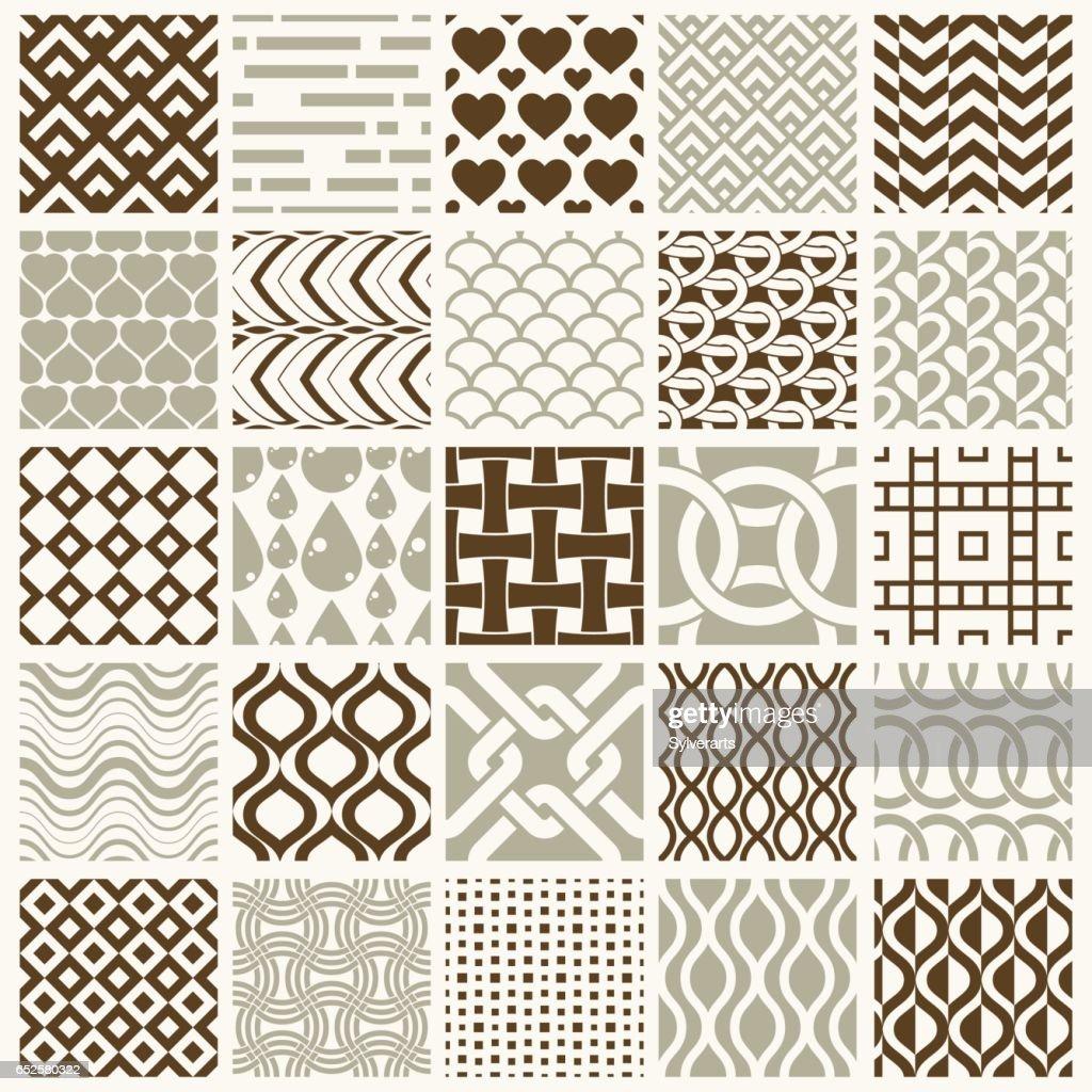 e707e52c3d680 Vecteur Graphique Vintage Textures Créées Avec Carrés Losanges Et ...