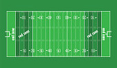 Vector Grass Textured American Football Field.