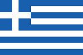 Vector Greek Flag In Original Ratio and Colors