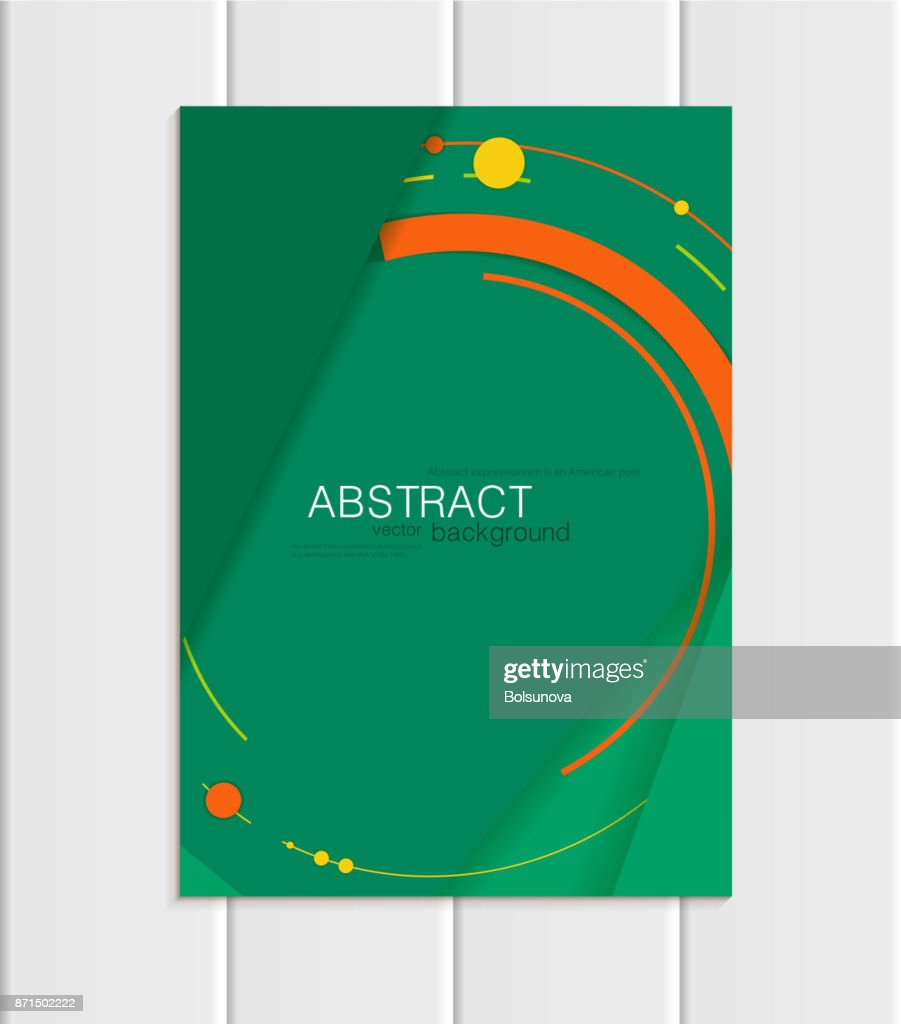 Vector Green Brochure A5 Or A4 Format Material Design Element ...