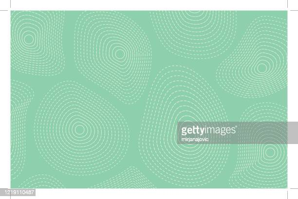 vector green curve particle background - fractal stock illustrations