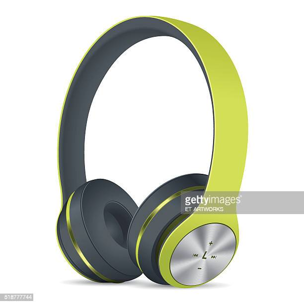 Vector Green Headphones