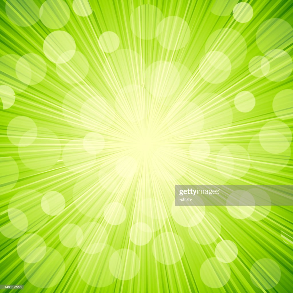 Vector green light  abstract  background. Sun burst