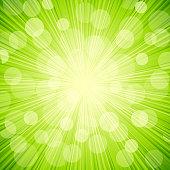 Vector green light  abstract  background. Sun burst