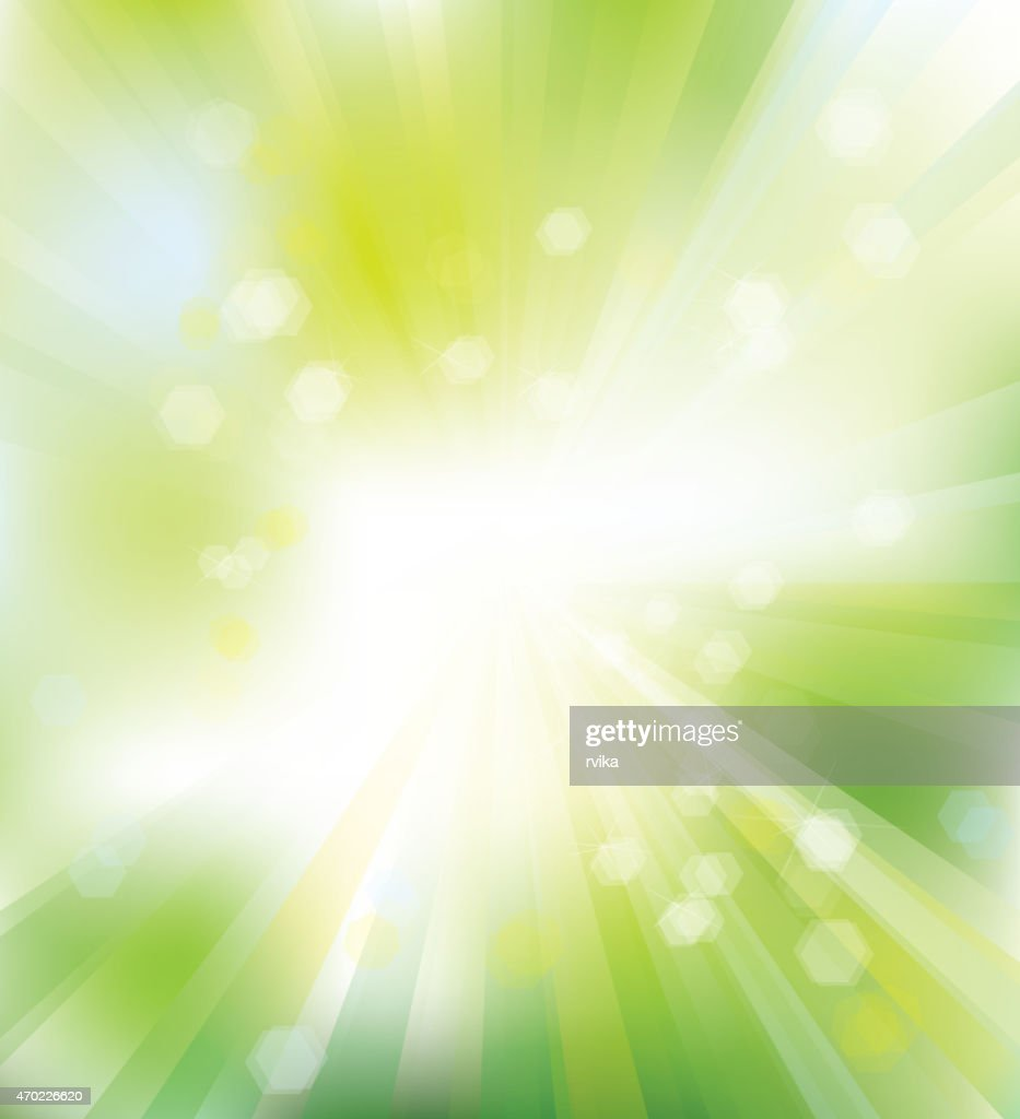 Vector green, shine background.