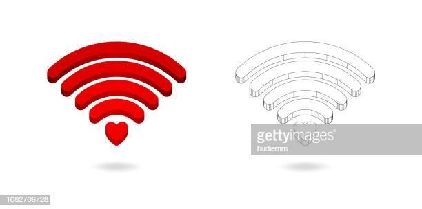 vector green wifi symbol icon - wireless technology stock illustrations