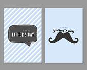 Vector greeting cards for Father's day