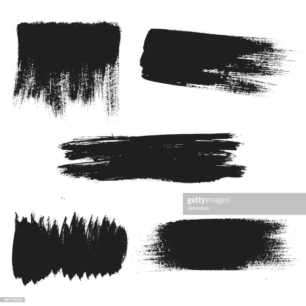 Vector grunge background elements. Textured brushstrokes