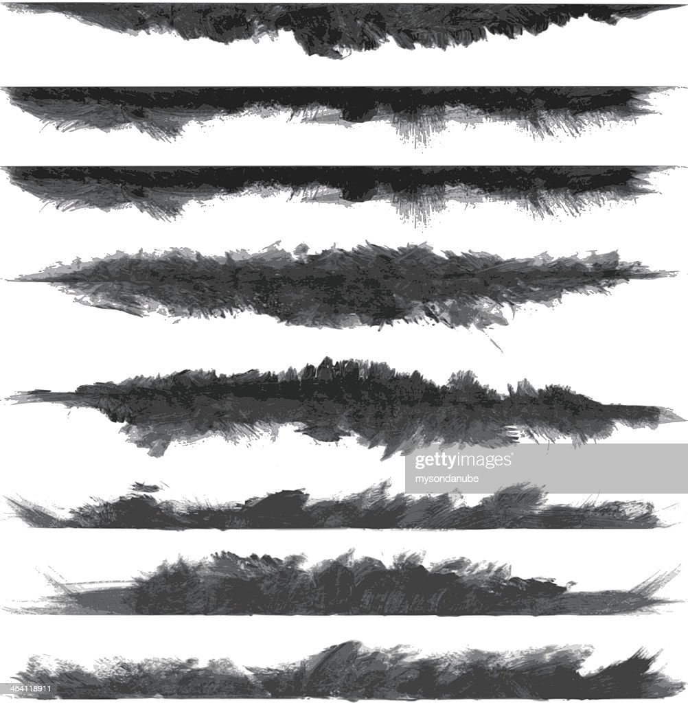 vector grunge brush stroke banners