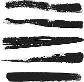 Vector Grunge Brushes Set 1