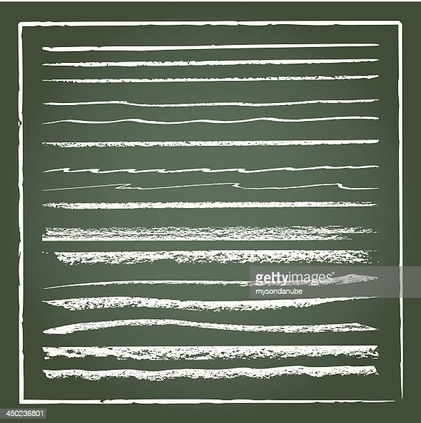 vector grunge chalk lines - rough stock illustrations, clip art, cartoons, & icons
