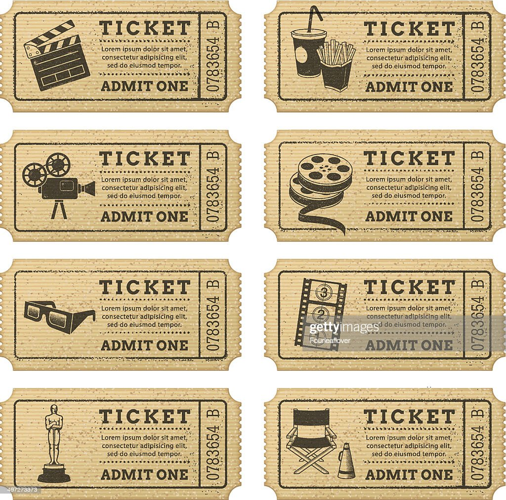 Vector Grunge Cinema tickets