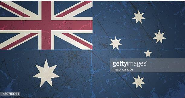 vector grunge flag of australia - australia day stock illustrations