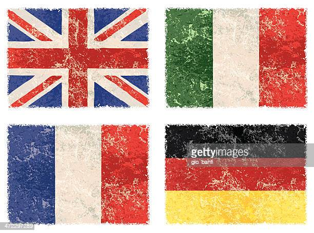 vector grunge flags