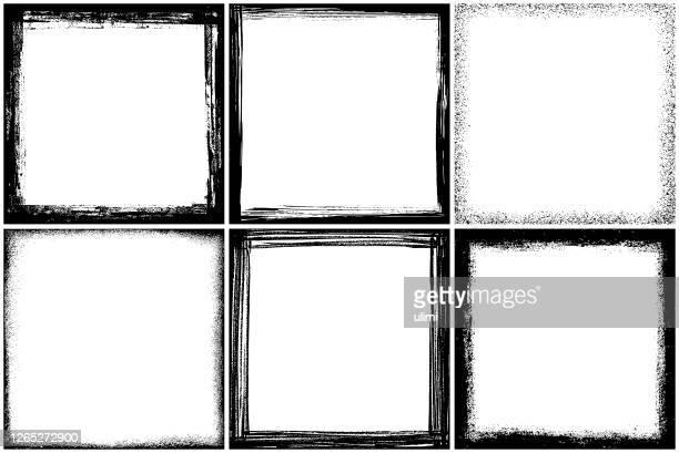 ベクトルグランジフレーム - 黒枠点のイラスト素材/クリップアート素材/マンガ素材/アイコン素材