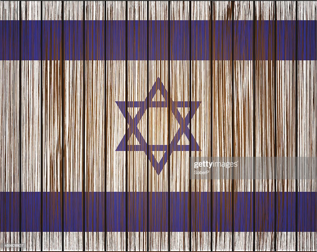 Vector grunge israel flag. Eps10