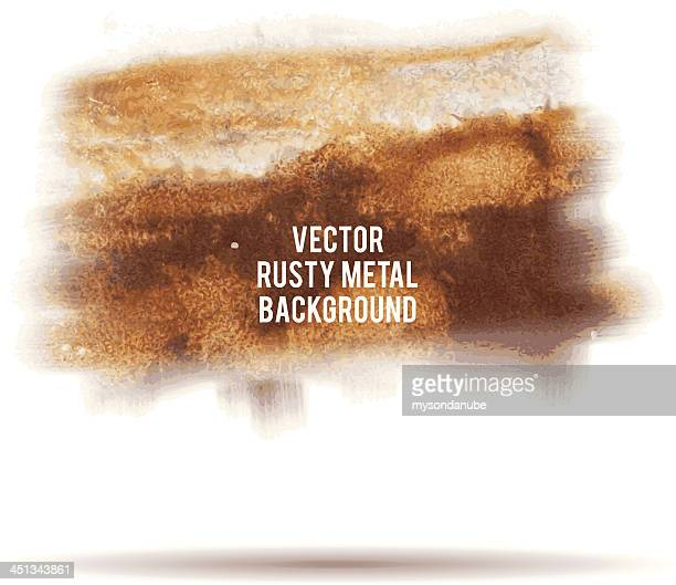 vector grunge rusty metal background - metal stock illustrations