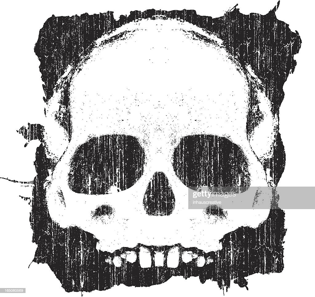 Vector Grunge Skull : stock illustration